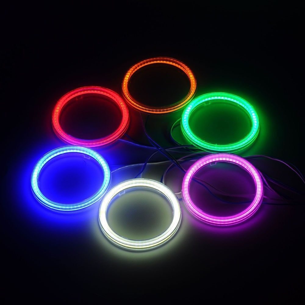 12 73 Angel Eyes 85mm Cob Halo Ring Light Car Led Universal Fit 6 Colors Ebay Home Garden