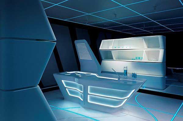 Tron Interior Design Google 搜尋 Futuristic Interior Spaceship Interior Interior Design Living Room Modern