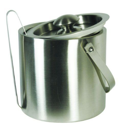 Grant Howard 50335 Brushed Stainless Double Wall Ice Bucket With Tong Lid Carry Handle 2 1 2 Quart Click Double Walled Ice Bucket Kitchen Utensils Gadgets