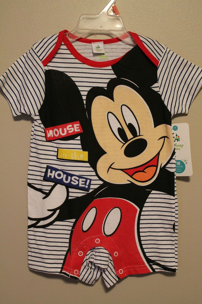 0baa47886 BOYS 12 months Mickey Mouse Disney one-piece romper bodysuit outfit NWT  #DisneyBaby #Everyday