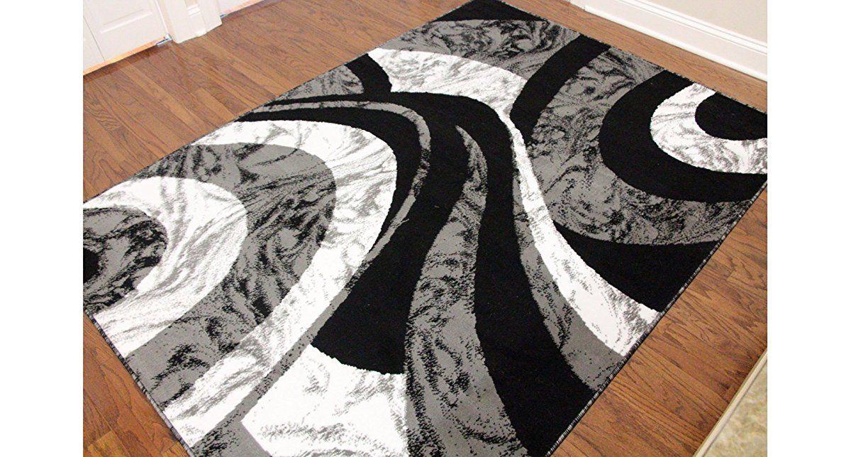 Eldorado Modern Design Printed Swirls Area Rug Luxurious Elegant