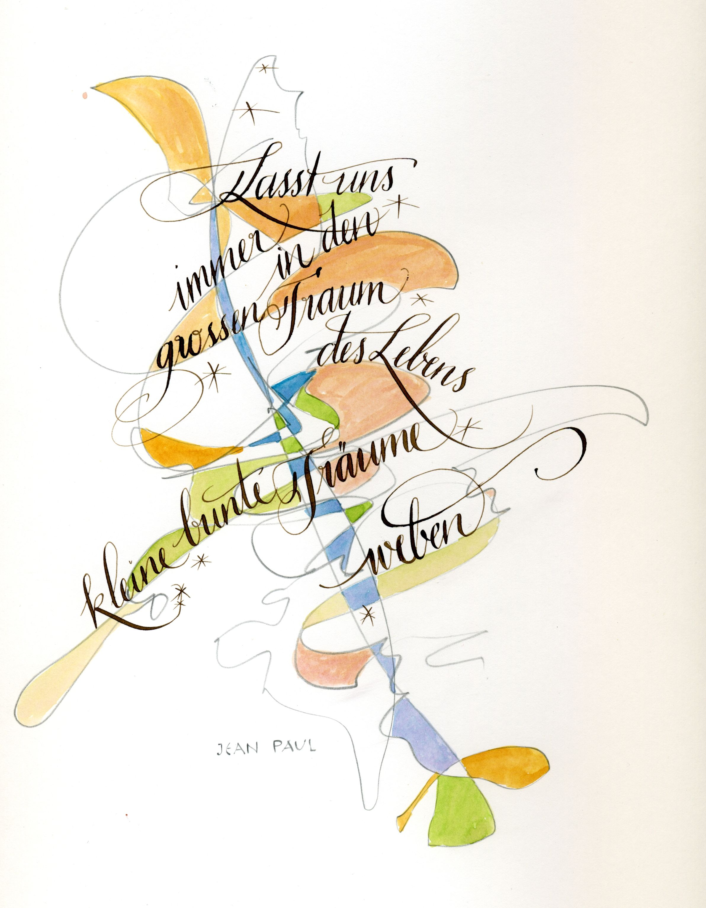 Schöne Handschrift Lernen From My Workshop Quotcalligraphy And Aquarell Quot Grafik