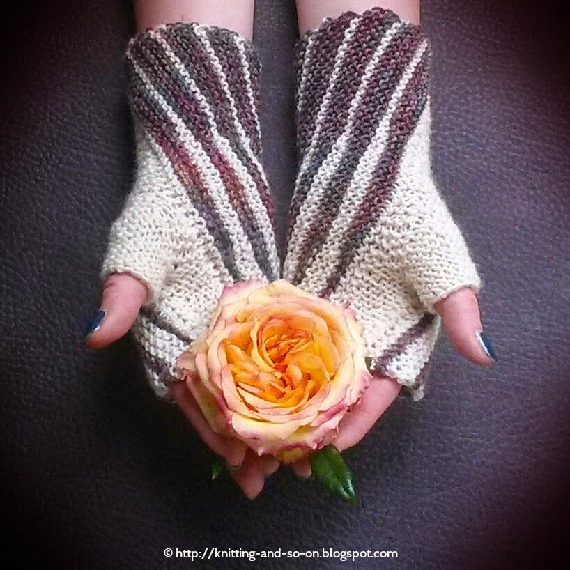 Winding Mitts - free #knitting pattern by Knitting and so on ...