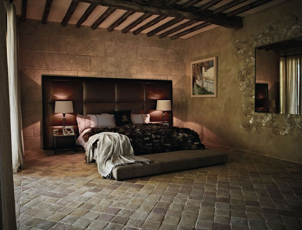mediterranean antique terracotta floor tiles mediterranean bedroom london by lapicida stone group