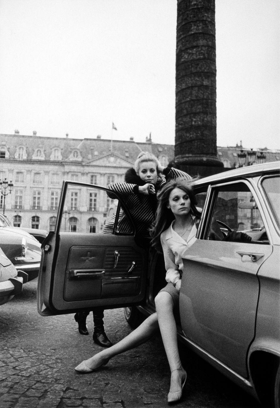 David Bailey, Françoise Dorléac & Catherine Deneuve, 1965