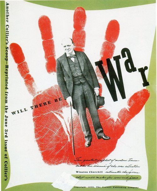 """Will There Be War?"" by Lester Beall, 1939"