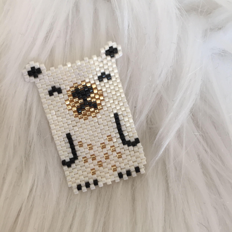 Polar bear , brick stitch avec perles Miyuki. By Sha | Hama Beads ...