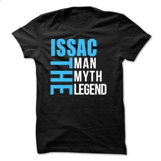 ISSAC - The Man The Myth The Legend - #shirt cutting #baseball tee. BUY NOW => https://www.sunfrog.com/Names/ISSAC--The-Man-The-Myth-The-Legend-52700129-Guys.html?68278