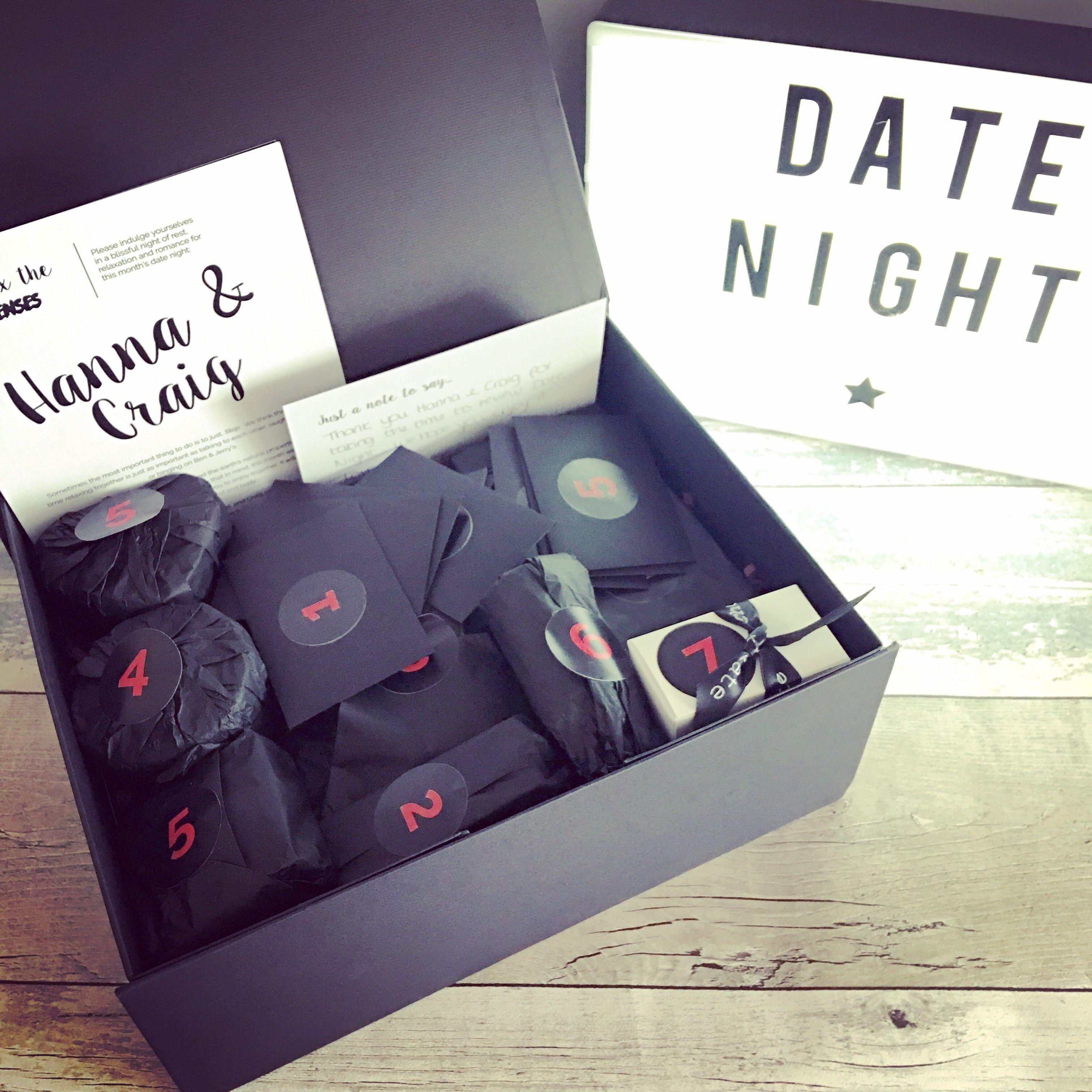 Brilliant Idea For A Subscription Box Date Night Date Night Gifts Mystery Box Subscription Gifts