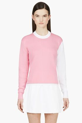 367fc834882d99 JACQUEMUS Pink & White # 65 Pullover Sweater on shopstyle.com ...