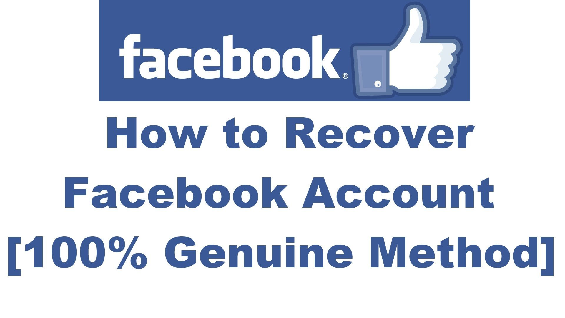 Socialmedia How To Recover Your Facebookaccount Step By Step