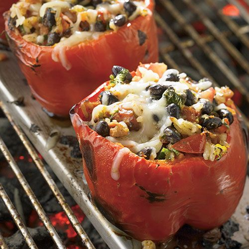 Southwestern Stuffed Bell Peppers Recipe Stuffed Peppers Grilling Recipes Pampered Chef