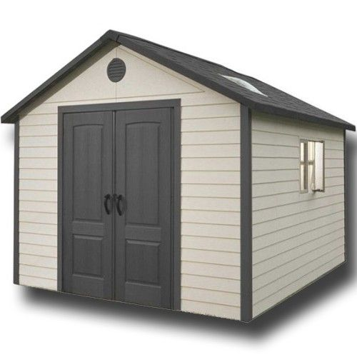 Lifetime 11x11 Heavy Duty Plastic Shed Plastic Sheds Shed High Walls