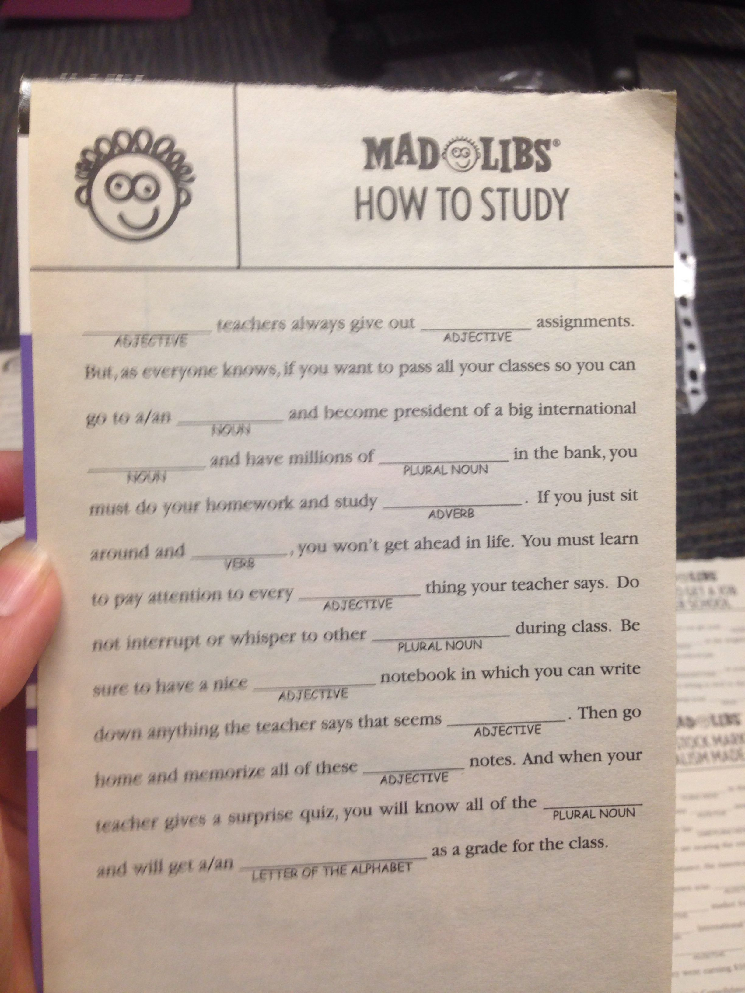 Mad libs teacher resources teaching language arts teaching