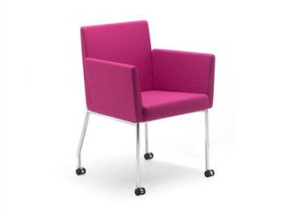 Fabric easy chair with casters PACO   Easy chair with casters - Artifort