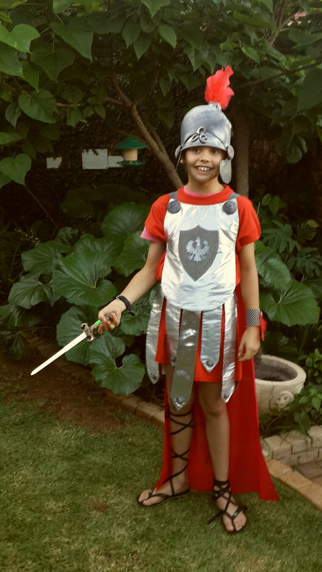 roman soldier from south africa dress up costume for