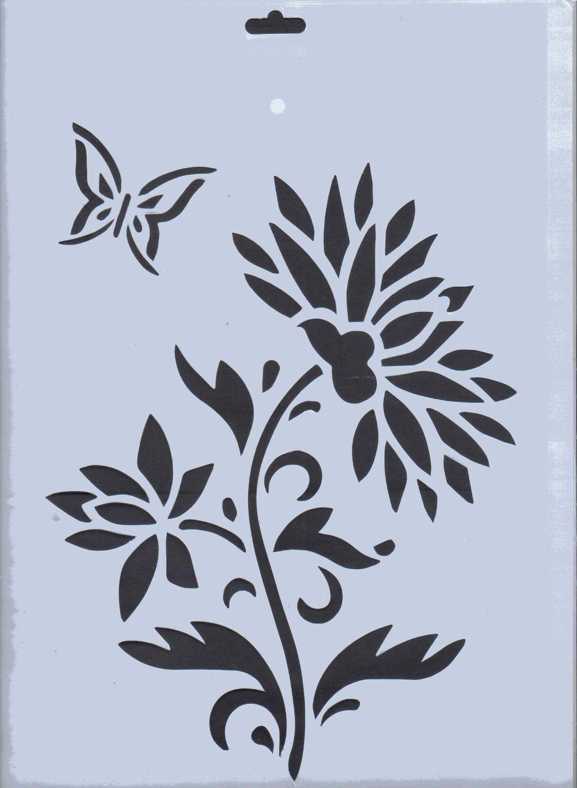 álbum de imágenes para la inspiración stenciling wildflowers
