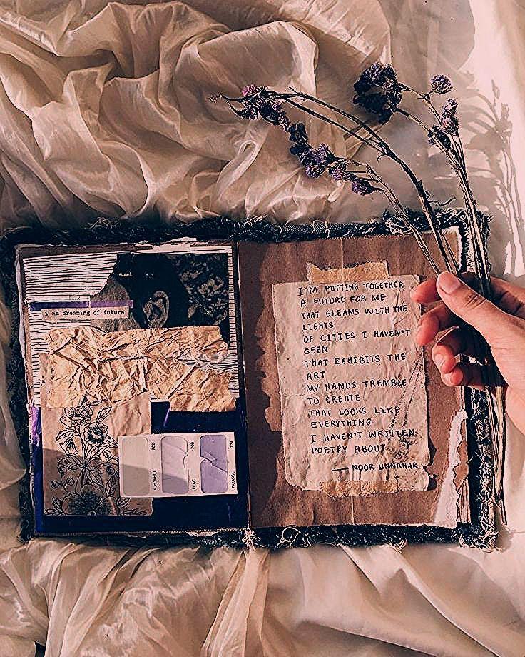 - future // journal d'art + poésie de noor unnahar // idées de journalisation - Laphotographie