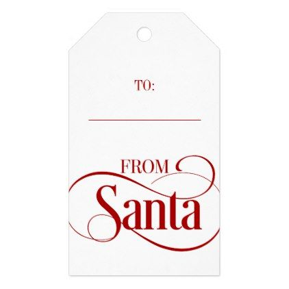 from santa claus christmas holiday gift tags christmas craft