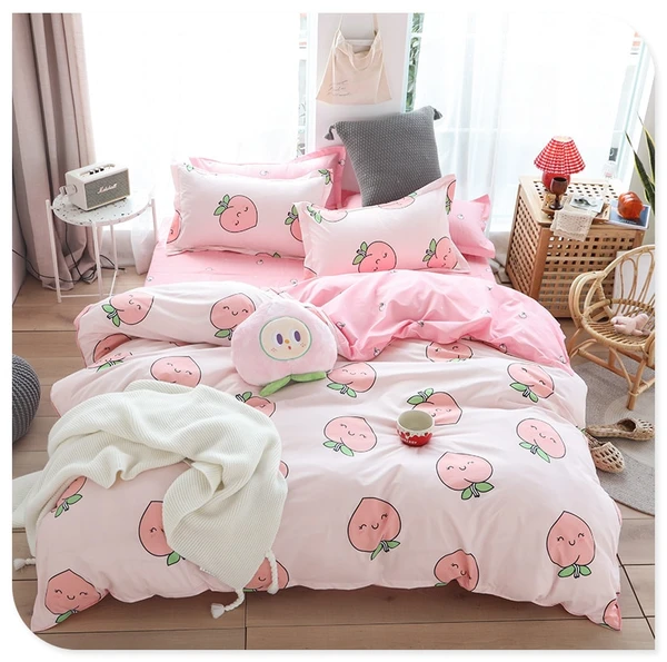 Avocado Modern Bedding Set Kids Single Fruit Pattern Duvet