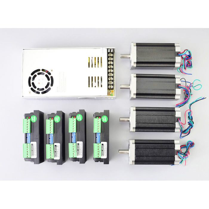 3 axis 8 5nm 1204oz in nema 34 stepper motor ma860h driverr kit 4 axis 3nm 425oz in nema 23 stepper motor m542t driverr kit