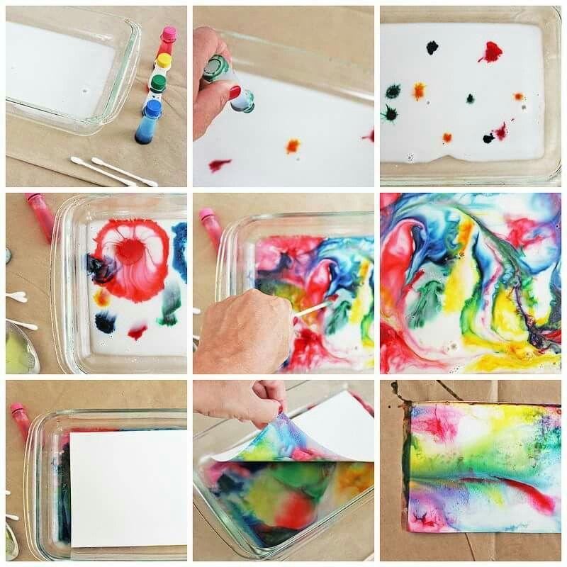 Muito Cola e água com tintas variadas | Educação Infantil | Pinterest  IP76