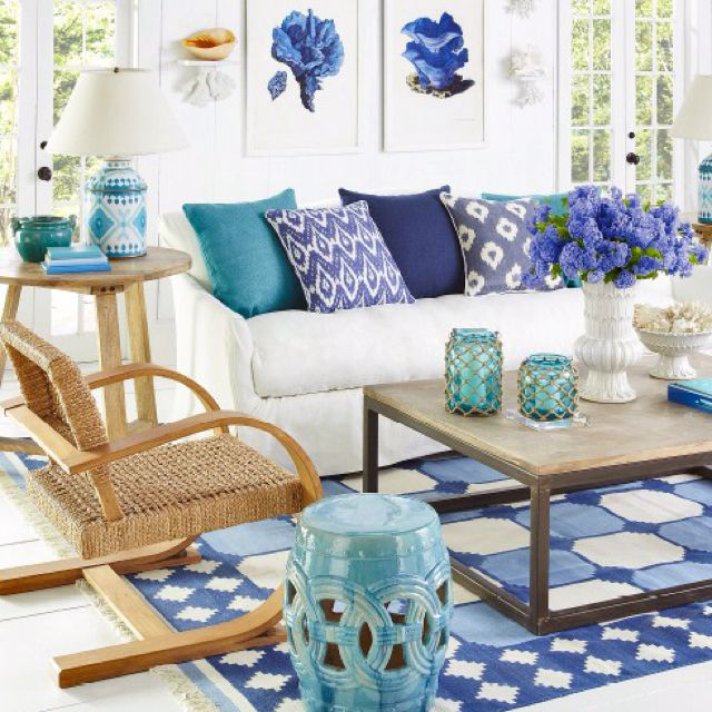 16 Absolutely Gorgeous Mediterranean Dining Room Designs: Beach Home Decor. Love These Colors For Our New Cottage