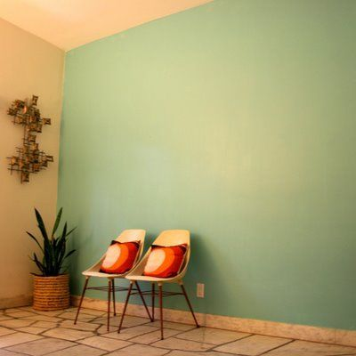 A Seafoam Green Accent Wall In My Living Room Accent Walls In