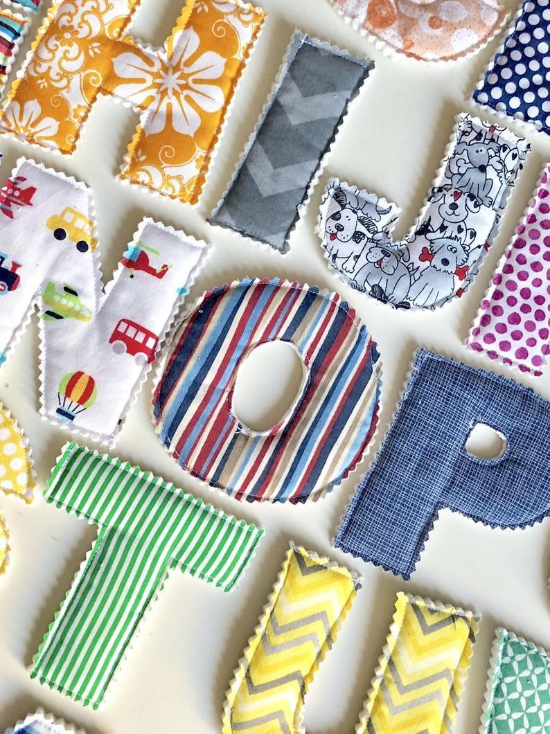 Fabric AlphabetLearning ToysEducationalFabric LettersPlush ...
