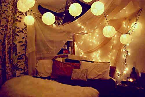 Bedroom Ideas Lighting Sheets Draped Over Bed Indie
