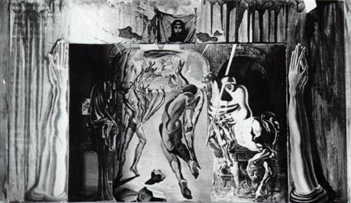 Study for the set of 'Romeo and Juliet'  Completion Date: 1942 Style: Surrealism Series: William Shakespeare 'Romeo and Juliet' Genre: sketch and study