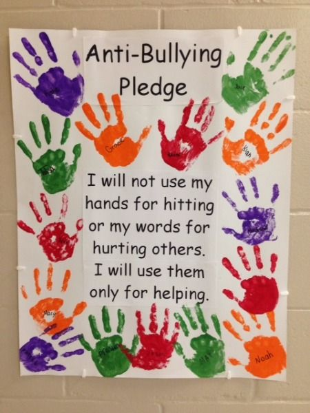 freeman public schools anti bullying pledge abs pinterest public school school and anti. Black Bedroom Furniture Sets. Home Design Ideas