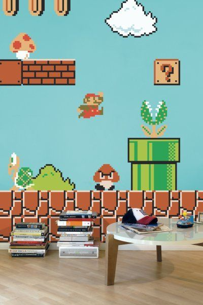 Ideal für das #Kinderzimmer - Super Mario #Wandsticker ...