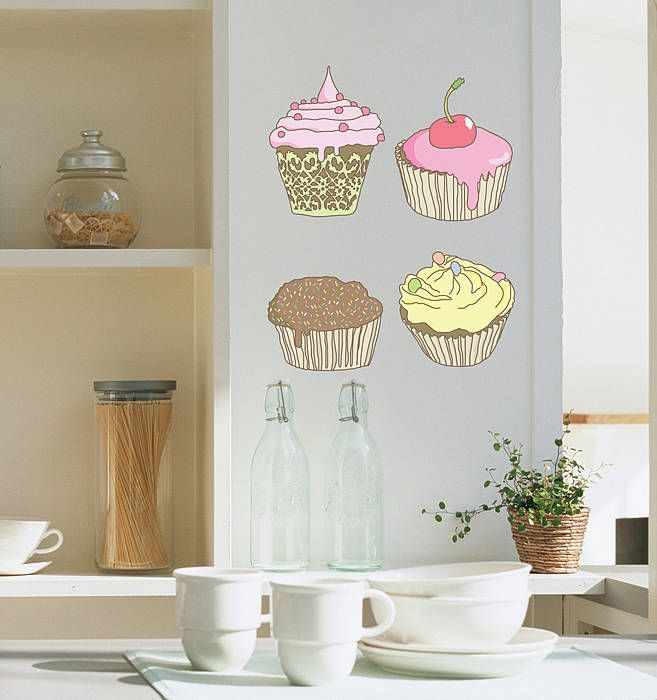 Sticker per la cucina | Jolies tables | Wall decals, Wall ...