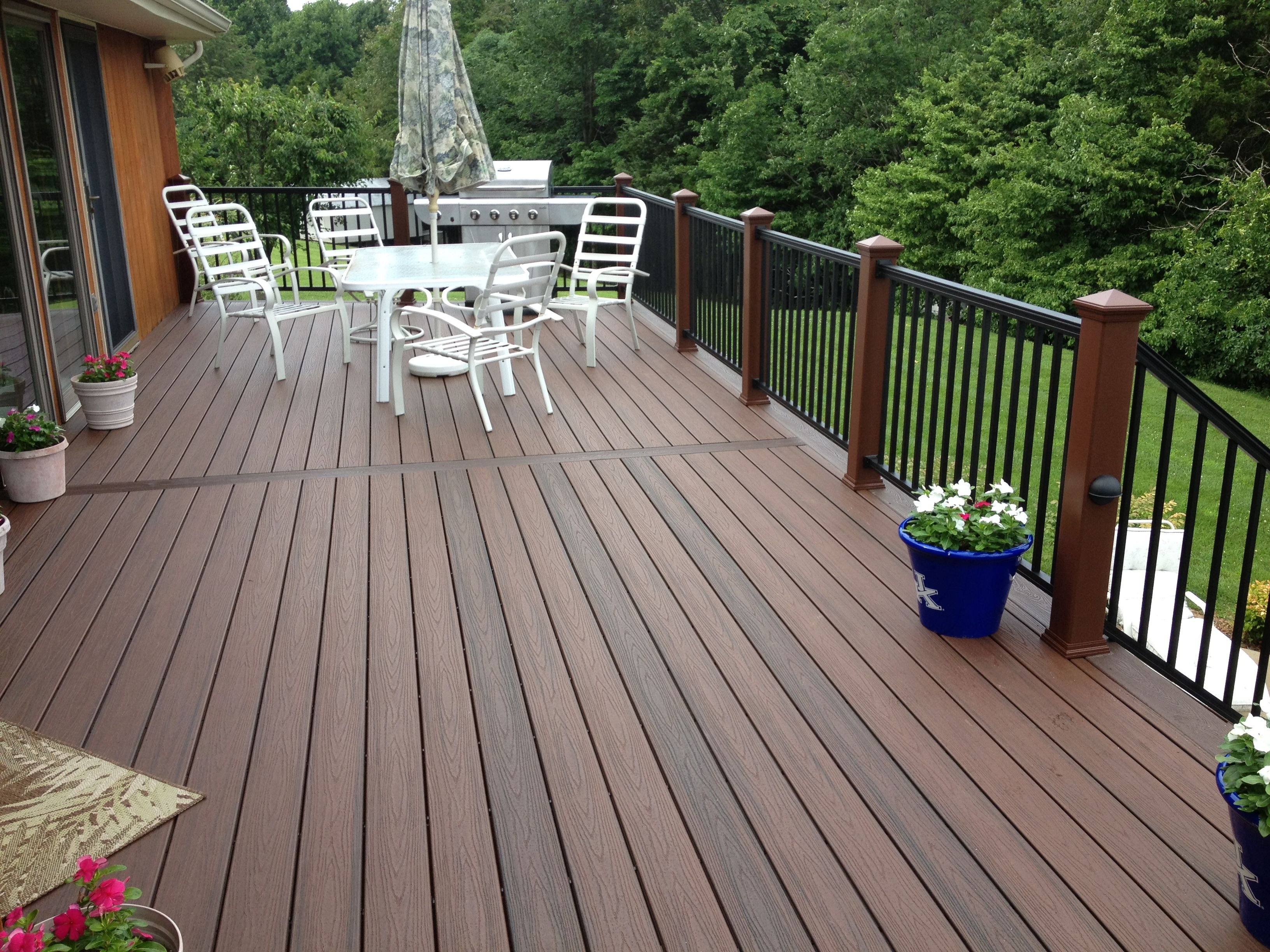 Look at the great variation of color to the trex for Outdoor composite decking