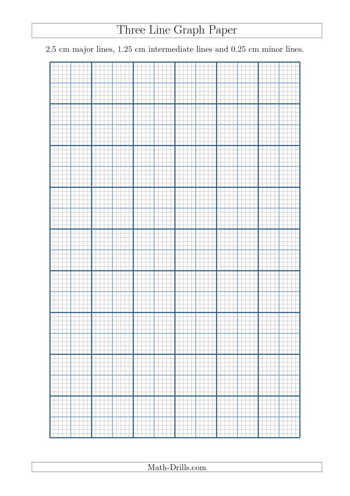 New A4 Sizes Added 09 18 Three Line Graph Paper With 2 5 Cm Major Lines 1 25 Cm