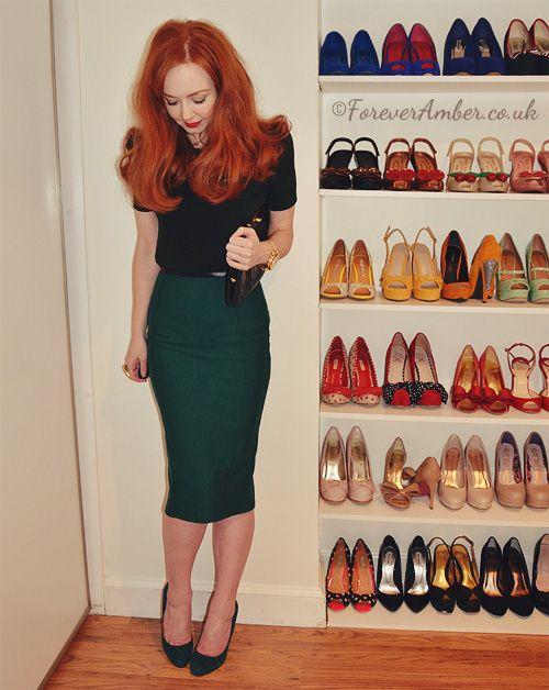 1000  images about Green Skirt on Pinterest | Long pencil skirt ...