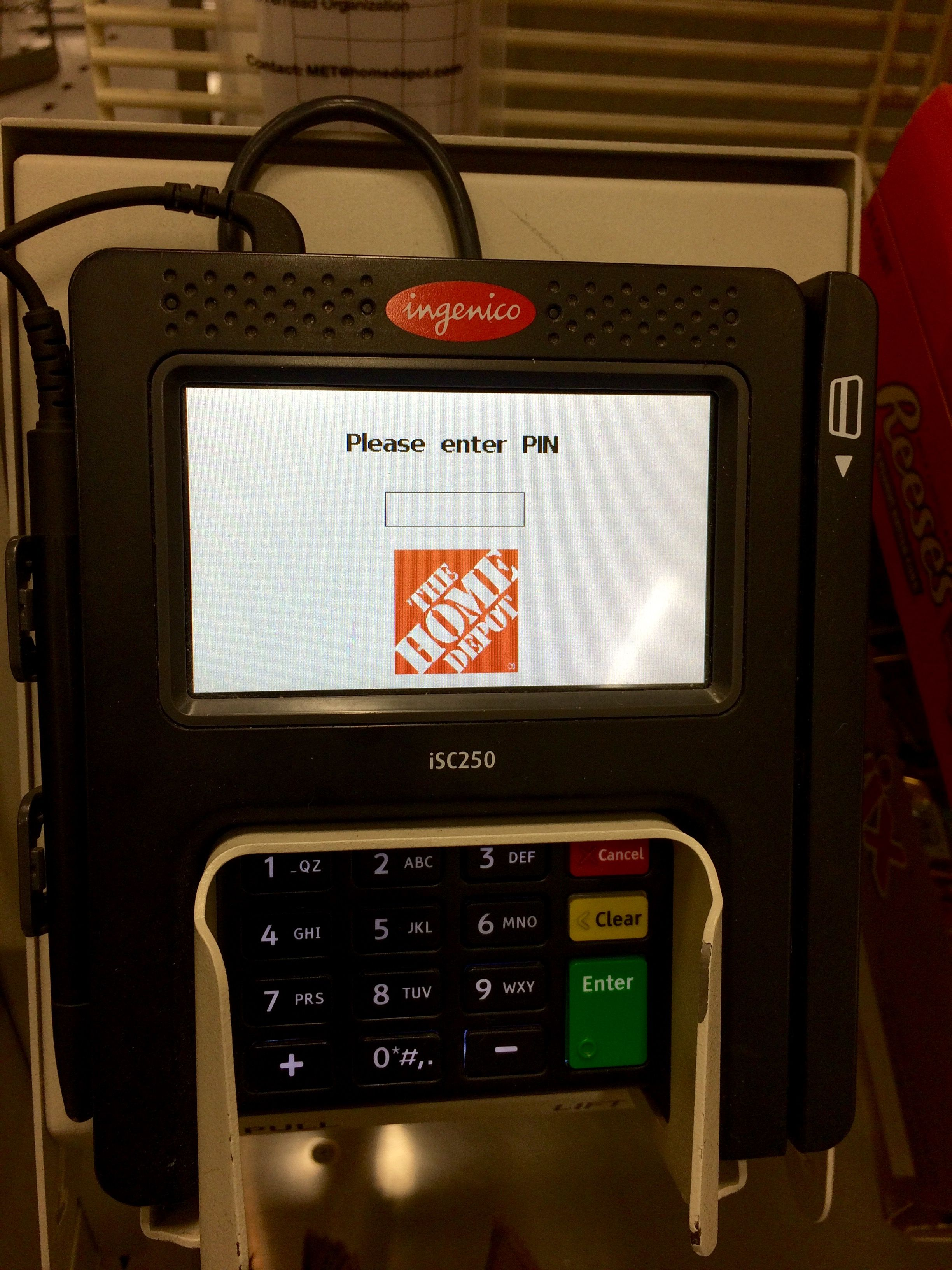 Spotted Ingenico Group's iSC250 at Home Depot! Check out
