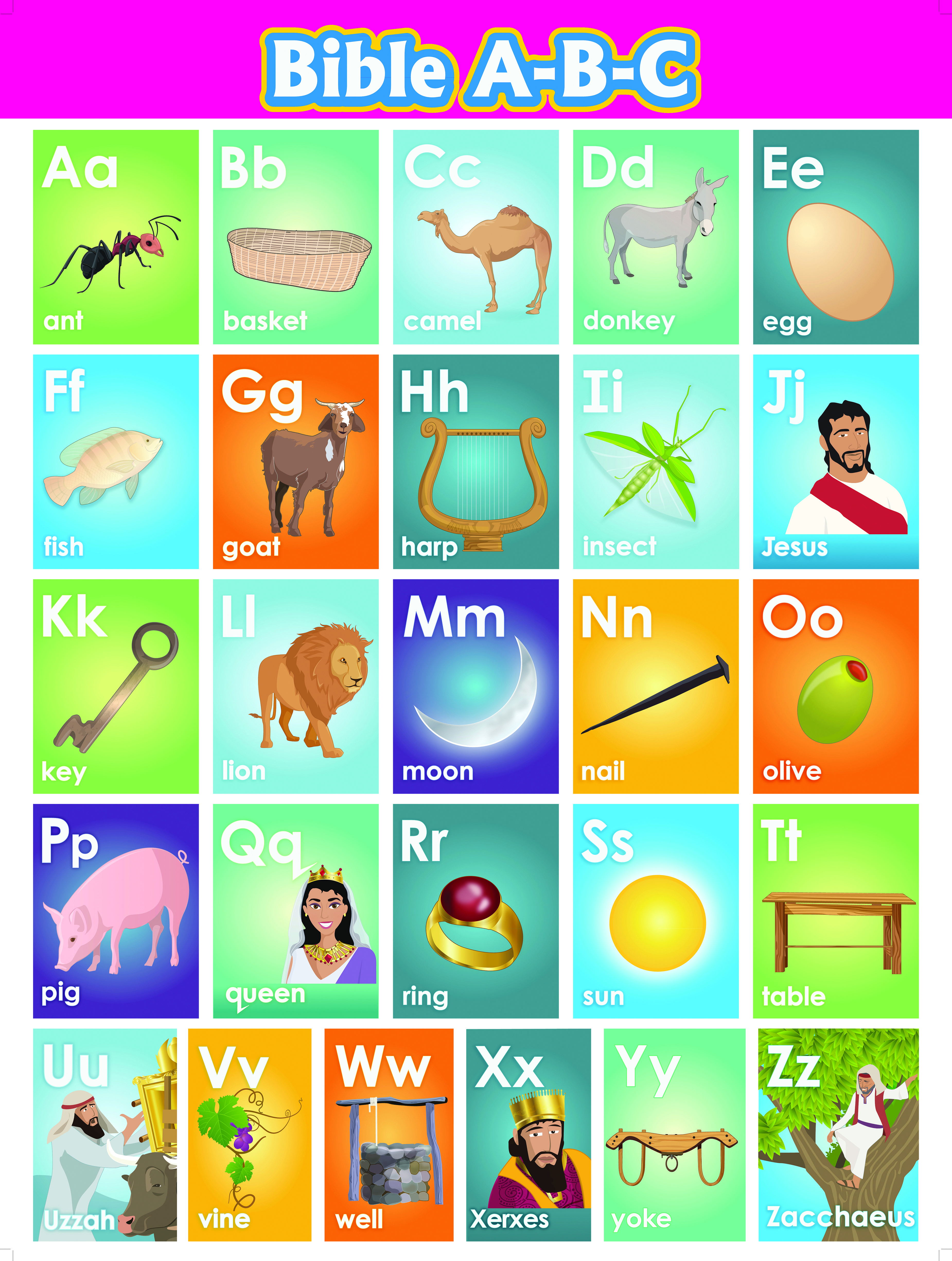 Here Is A Great Way To Use The Bible To Teach Alphabet Recognition Copyright Quail Publishers