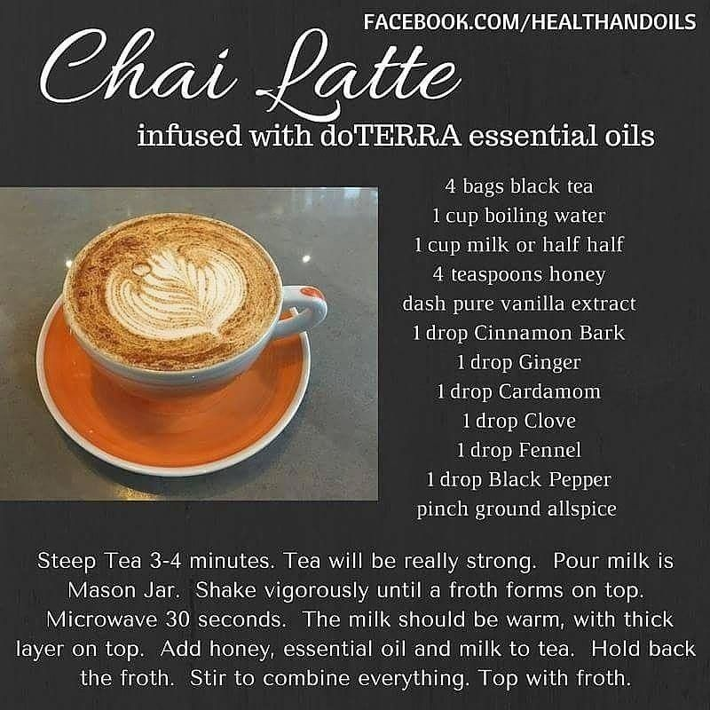 Chai Latte Using Essential Oils Cinnamon, Cardamom, Clove