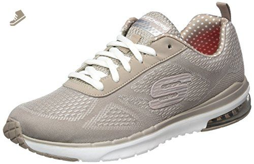 Skechers Womens Taupe Skech Air Infinity Trainers Uk 3 Skechers