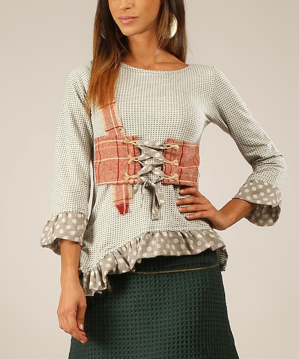 Another great find on #zulily! Green Water Patchwork Top by Ian Mosh #zulilyfinds