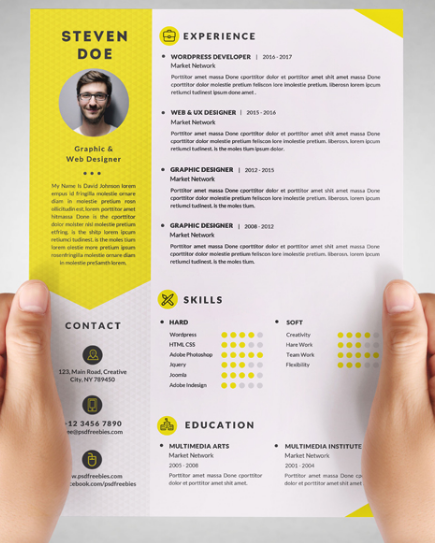 100+ Free Resume Templates [ PSD / Word ] UTemplates in