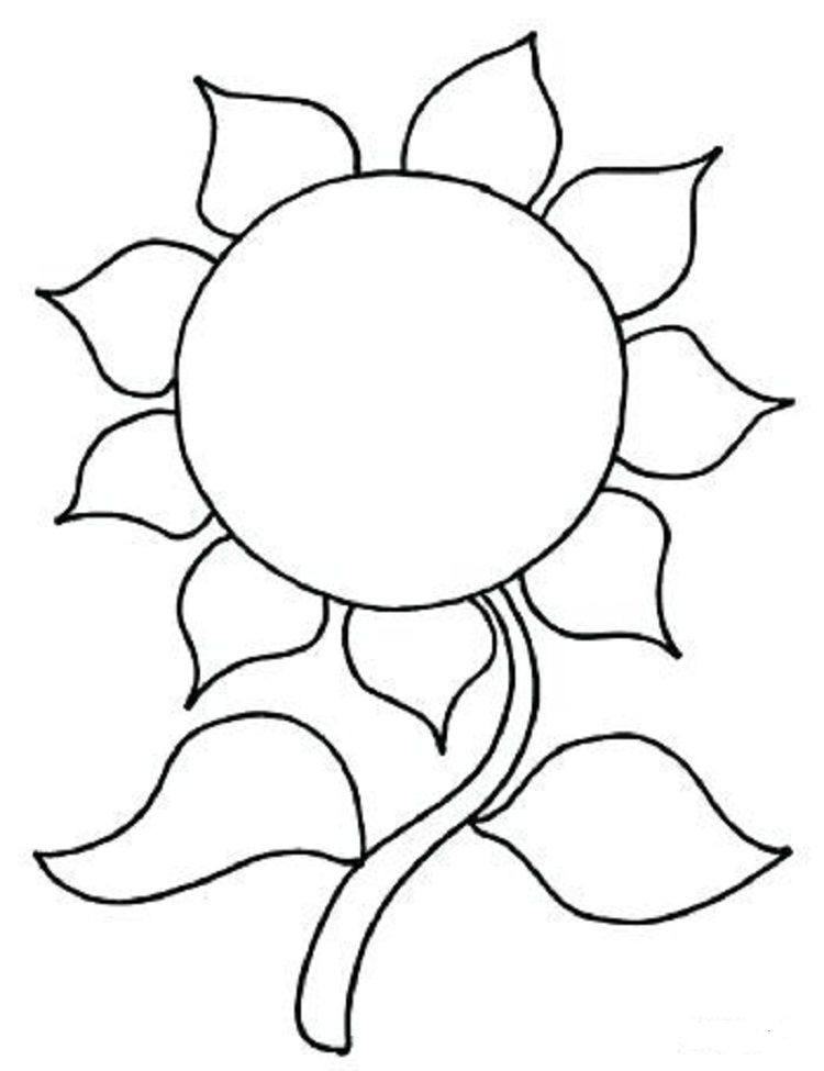 Sunflower Coloring Pages for Kids Check more at http://coloringareas ...
