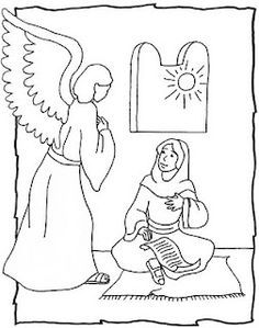 The Angel Appears To Mary Gabriel Angel Mary Bible Doodle Sketch Art Drawing Annunciation Bible Art Journaling Angel Coloring Pages Bible Art