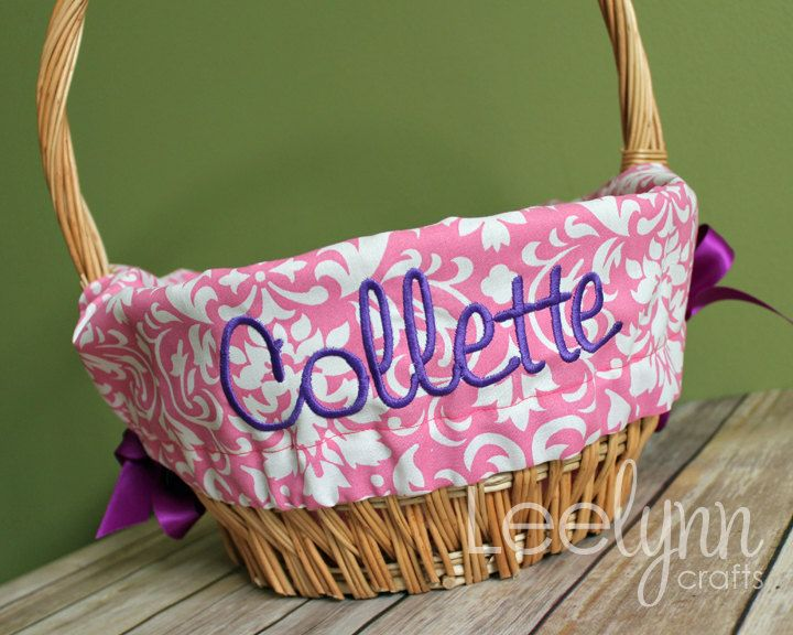Pink Damask Personalized / Monogrammed Easter by LeelynnCrafts, $26.00