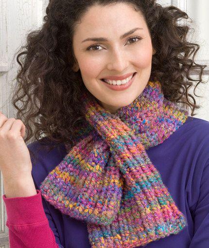 Keyhole Knit Scarf Free Pattern Scarves Free Pattern And Knit