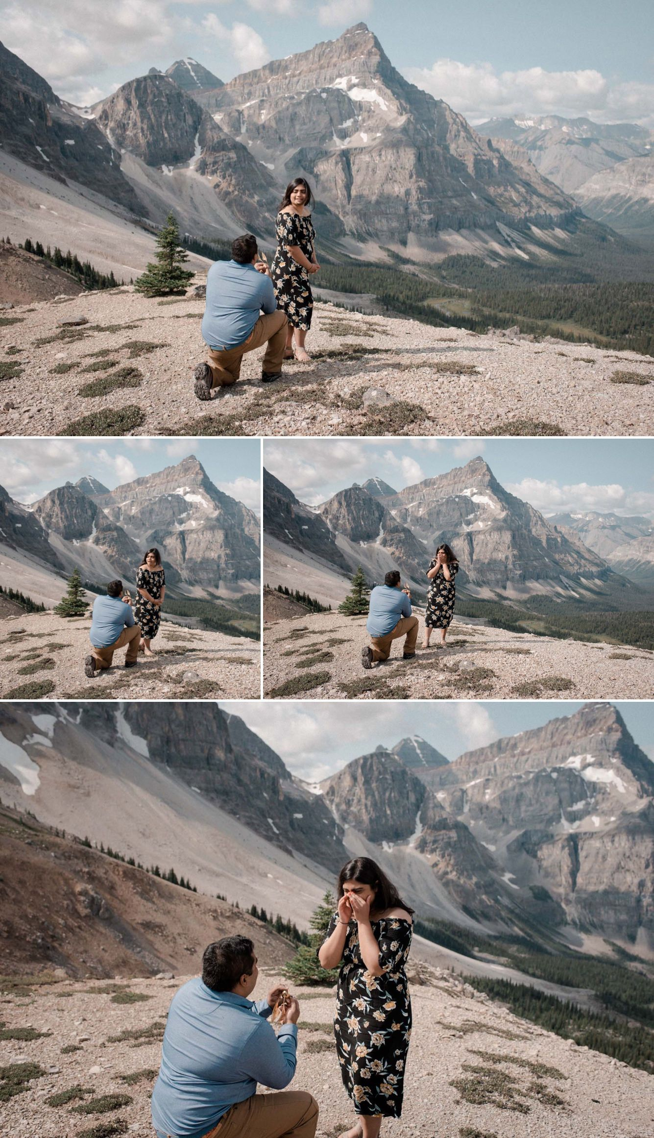 Flytographer helicopter proposal banff helicopter ride