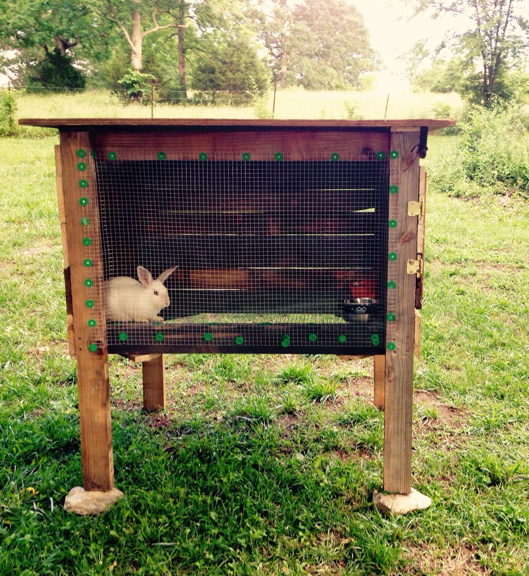Rabbit Runn Designs A Kitchen Makeover: Rabbit Cage Made Out Of Pallets. By Eric Sartin.