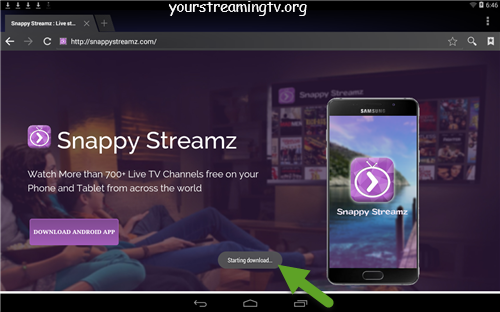 Install Snappy Streamz APK On Android Your Streaming TV